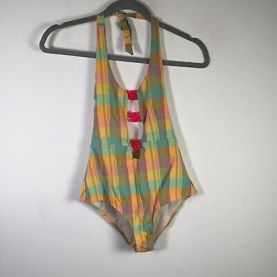 AU29.95 • Buy Tigerlily Womens Multicolour Check One Piece Swimming Costume Size 10 Sleeveless