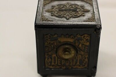 £230.44 • Buy Antique 1879 Royal Safe Deposit Bank With Combination