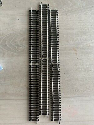 £9 • Buy 3xHORNBY R601 DOUBLE STRAIGHT STANDARD TRACK PIECES 336MM OO 00 GAUGE 1:76 SCALE