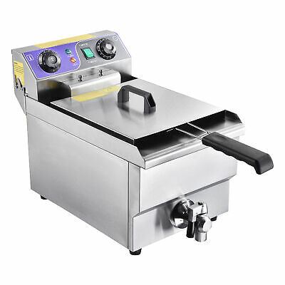 £119.90 • Buy Commercial 3000W Electric Deep Fryer 10L Stainless Steel Tank Drain Timer Home