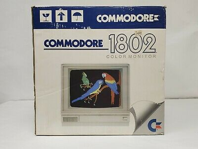 £70.80 • Buy Commodore 1802 Vintage Computer Monitor W/ Original Box! Tested, Works Well