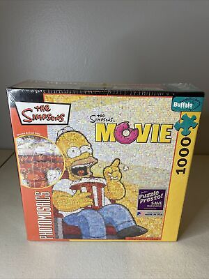 £17.70 • Buy Robert Silvers Photomosaics The Simpsons Movie 1026-Piece Puzzle NEW, Sealed