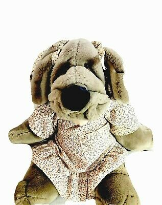 £21.63 • Buy Vintage 1981 Ganz Bros Wrinkles The Dog Plush Hand Puppet Girl Puppy Dress Bows