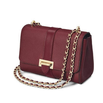 £325 • Buy NEW Aspinal Bordeaux Pebble Lottie Bag With Dust Bag And Gift Box