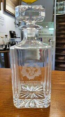 £25 • Buy The Cameronians (Scottish Rifles) Crystal Decanter.