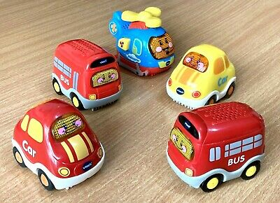 £16.99 • Buy 5 X VTECH Toot Toot Red Yellow Blue Bus, Helicopter & Car Lights/Sounds Extras