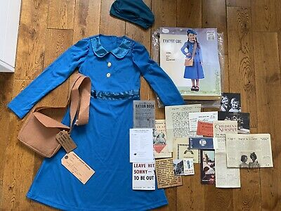 £10 • Buy Evacuee School Girl Costume And Accessories Fancy Dress World Book Day 7-8 Yrs