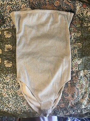 £0.99 • Buy Super Jazzy Topshop Champagne Body Suit With Cut Out Back Size 10
