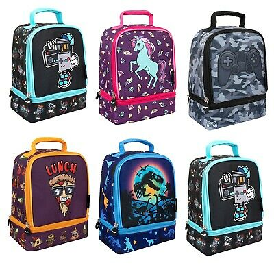 $ CDN25.72 • Buy Fringoo - Double Decker Lunch Bag For Kids Insulated Lunch Box With Compartments