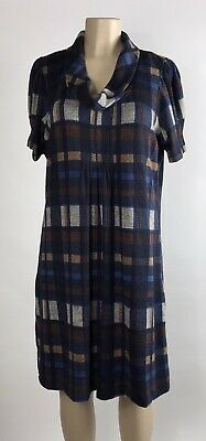 £21.23 • Buy Jessica Howard Women's Brown Blue Plaid Cowl Neck Fit & Flare Dress Size XL NEW