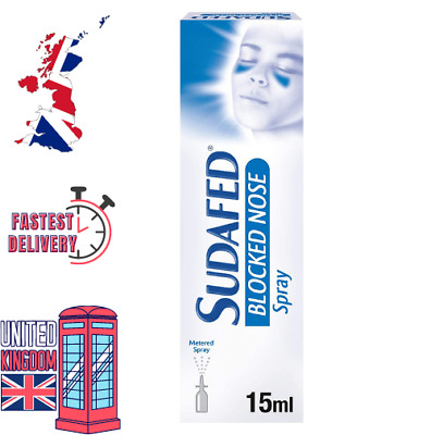£4.47 • Buy SUDAFED Blocked Nose Spray 15ml Pain, Congestion Relief