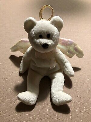 £3 • Buy Ty Beanie Baby Retired Limited Edition Soft Toy Bear Collectable Halo Angel