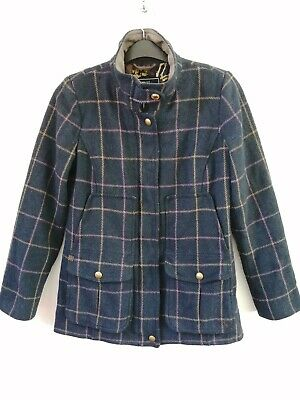 £59.99 • Buy Joules Navy Tweed Field Coat Mr Toad Jacket Country Sports - Size 12 - RRP £249