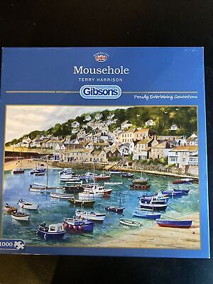 """£5 • Buy Gibsons 1000 Piece Jigsaw   The Mousehole Cornwall   Terry Harrison """" 🧩"""