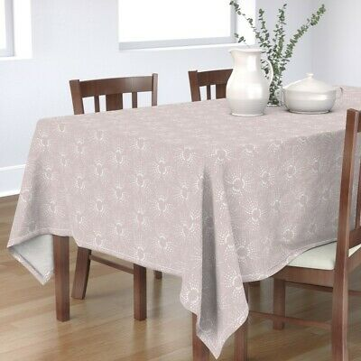 £87.79 • Buy Tablecloth French Grey Textured 2 Cotton Sateen