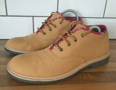 £14.95 • Buy F Troupe Foxes Paw Mens Beige Canvas Chukka Boots Size EU 44 UK 10 Lace Up NEW