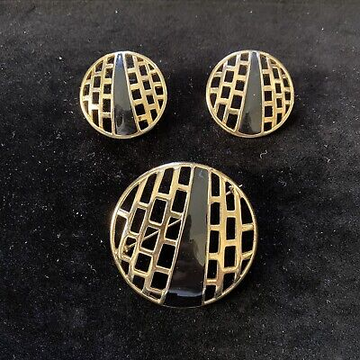 $11.50 • Buy Vintage Signed M Jent Brooch And Earring Set