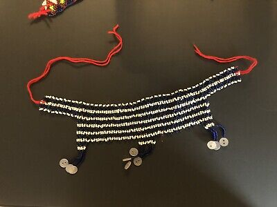 $15 • Buy African Multicolor Beaded Statement Necklace For Women, Maasai Ethnic Style