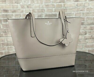 $ CDN89.03 • Buy KATE SPADE NEW YORK ADLEY LEATHER LARGE TOTE SHOULDER BAG $329 Muted Taupe