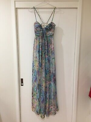 AU37.49 • Buy Forever New Rainbow Patterned Formal Evening Maxi Dress Size 6 EUC