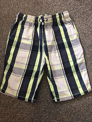 £1.30 • Buy Boys Checked Yellow Blue And White Shorts Next Size 9
