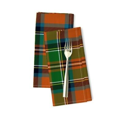 £20.53 • Buy Plaid Classic Red Green Scottish Cotton Dinner Napkins By Roostery Set Of 2