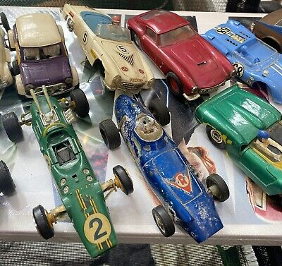 £19 • Buy Scalextric Cars Job Lot Airfix Scalex Triang Lots Of Spares