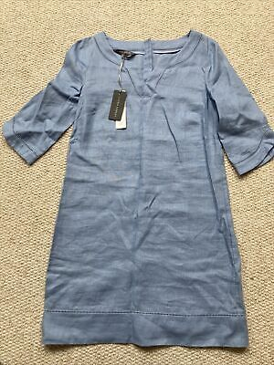 £12 • Buy *new With Tags* Laura Ashley Blue Pure Linen Dress - Size 8