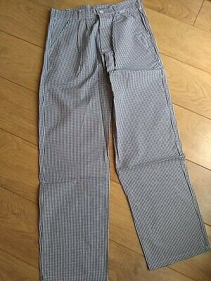 £5 • Buy Chefs Blue/white Check Trousers - 34