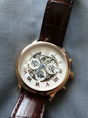 £70 • Buy Rotary Mens Automatic Skeleton Multi Dial Watch VGC GS00244/01