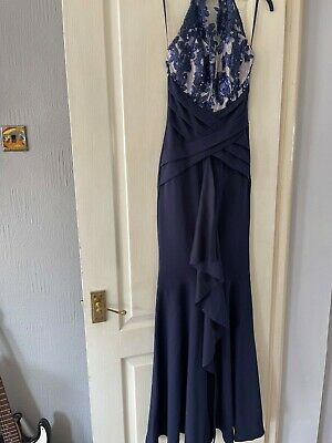 £15 • Buy BNWT BEAUTIFUL LONG NAVY PROM/COCKTAIL SEQUIN DRESS BY LIPSY size 4