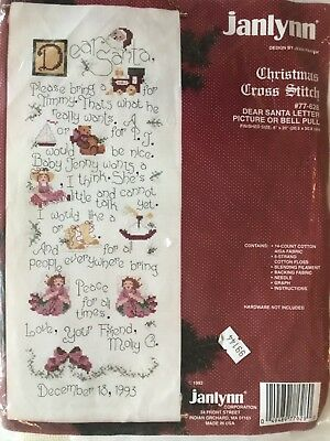 £14.99 • Buy Christmas - Dear Santa Bell Pull - Counted Cross Stitch Kit - (A21)