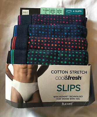 £14.99 • Buy Brand New M&S Collection Multi 4pk Cotton Lycra Cool & Fresh™ Slips Size XLarge