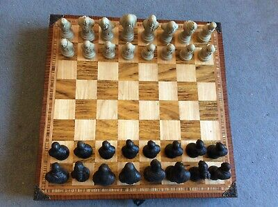 £99 • Buy Large Lord Of The Rings Chess Set & Handmade 18 Inch Chess Board Storage Box NEW
