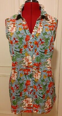 £5.99 • Buy Fabulous Striped/floral Print Lightweight Sleeveless Shirt From Pep & Co Size 20