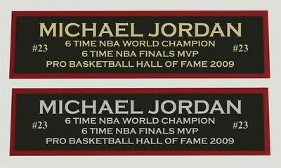 AU10.76 • Buy Michael Jordan Color Nameplate For Signed Autographed Basketball Photo Jersey