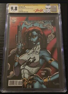 £318.71 • Buy CGC 9.8 SS 2X Avengers #9 Signed Stan Lee Jim Lee MCU Trading Card Variant
