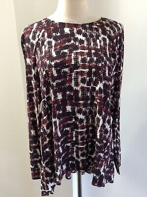 AU45 • Buy Scanlan Theodore Silk Top Tunic Abstract Print Blouse Size 8