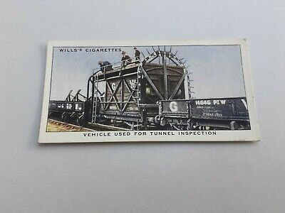 £1.10 • Buy + Wills Cigarette Card - Railway Equipment - No. 34 Vehicle Tunnel  Inspection +