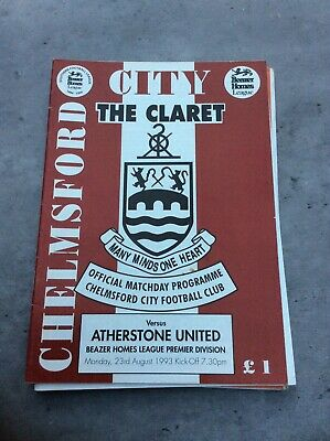 £3.29 • Buy Chelmsford City V Atherstone United 23rd Aug 1993
