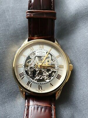 £50 • Buy Rotary Mens Automatic Skeleton Watch VGC
