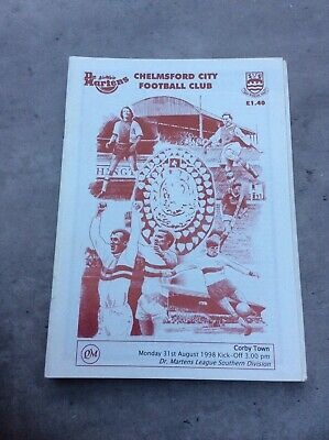 £3.29 • Buy Chelmsford City V Corby Town 31st Aug 1998