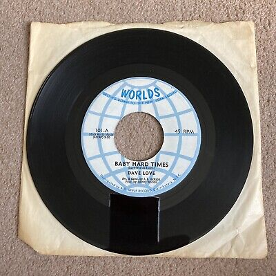 £9.99 • Buy Northern Soul - Dave Love - Baby Hard Times - Worlds (101) Rare Soul Classic