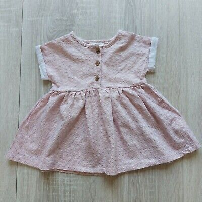 £1.45 • Buy Baby Girls Dusky Link Button Up Tshirt Dress Next Up To 3 Months