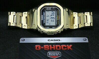 £92.28 • Buy Casio G-Shock Full Metal GMWB5000D-1 Gold(Case) With DW-5600E Internals .