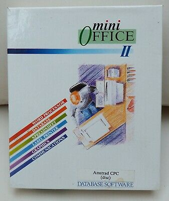 £10.99 • Buy Database Software - Mini Office II Disk For The Amstrad CPC 6128