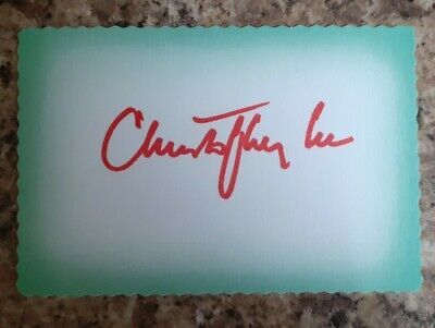 £69.99 • Buy Sir Christopher Lee  Dracula   Lord Of The Rings  Personally Signed Card