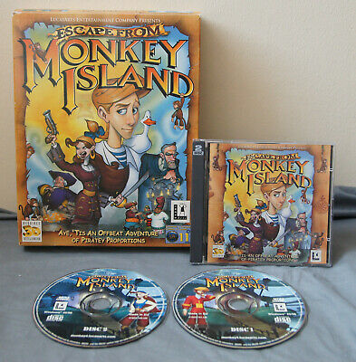 £59.99 • Buy Escape From Monkey Island PC CD-ROM Big Box Vintage Adventure Game LucasArts