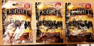 £0.99 • Buy THE HOBBIT MINI FIGURE SERIES 1 UNEXPECTED JOURNEY 3 X BLIND BAGS NEW AND SEALED