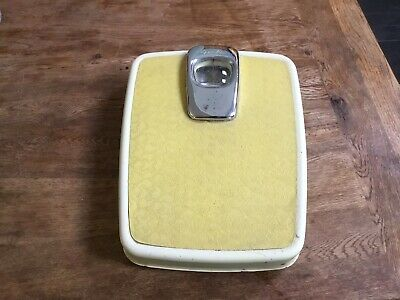 £18.99 • Buy Vintage 1950s Yellow Chrome Spiralux Weighing Bathroom Scales